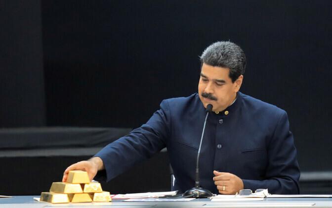 Kullakangid ja Venezuela president Nicolas Maduro.