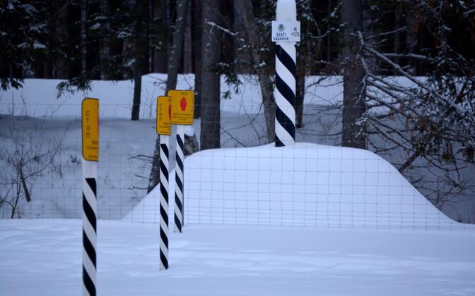 Tri-border (Estonia/Latvia/Russia) point in southeastern Estonia during the winter.