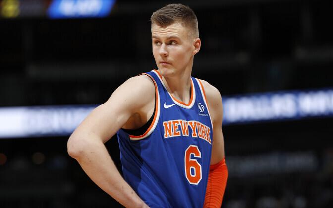 Kristaps Porzingis New York Knicksi särgis