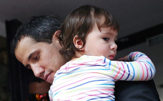Juan Guaidó ja tema tütar.