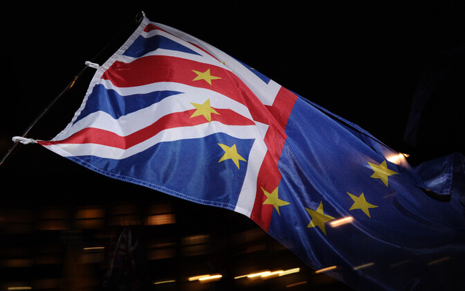 Lipp Brexiti-teemaliselt meeleavalduselt.
