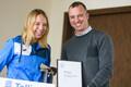Tennisenaiskonna pressikonverents. Anett Kontaveit sai kätte läinud aasta Tallinna parima naissportlase auhinna.