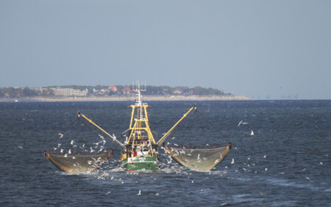 Krabipüügilaev Põhjamerel. Illustreeriv foto.