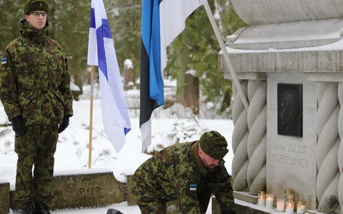 Julius Kuperjanovi 100. surma-aastapäeva mälestamine.