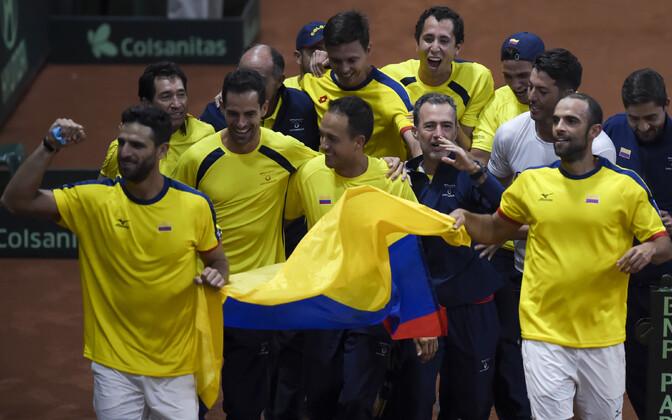 Colombia tennisekoondis pärast Rootsi alistamist