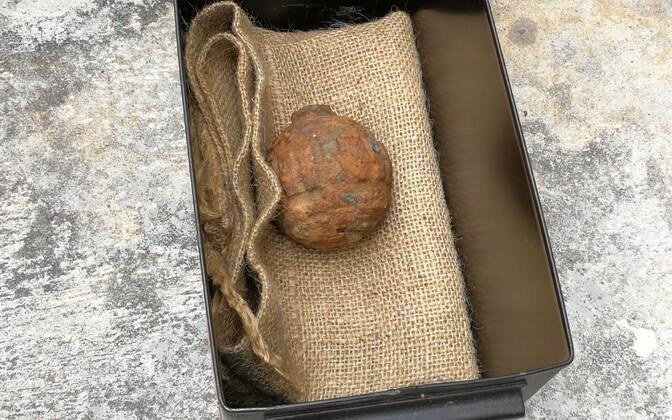 Kartulilastist leitud granaat.