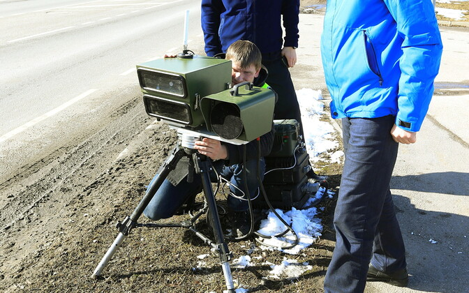 The Estonian Road Administration testing mobile speed cameras in 2016.