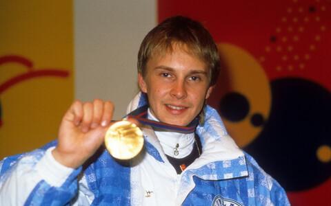 Matti Nykänen 1988. aasta olümpiakullaga.