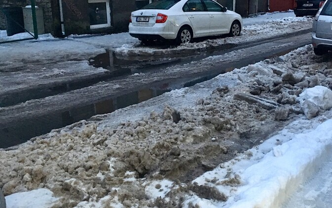 Улица Валгевасе, 3 февраля 2019.