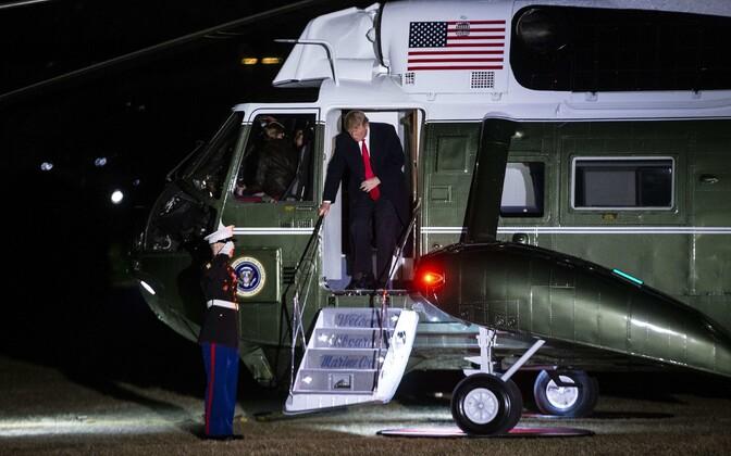 President Donald Trump 3. veebruaril Valgesse Majja saabumas.