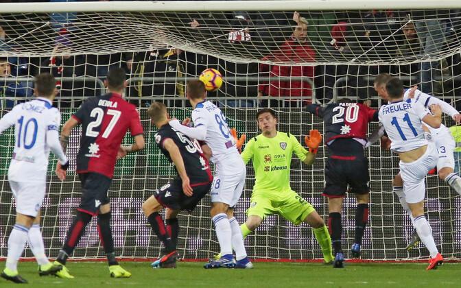 Cagliari kaotas viimatises voorus kodus Atalantale, mängu ainsa värava lõi Hans Hateboer.