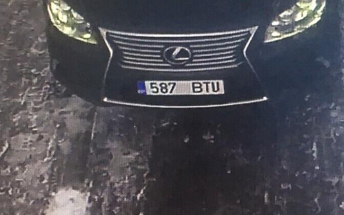 Угнанный Lexus