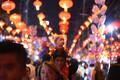 Празднование  Китайского Нового года по лунному календарю в Мьянме.