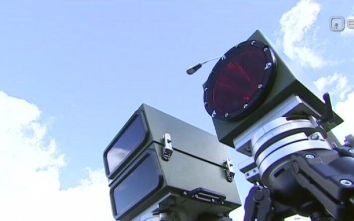 Переносная камера контроля скорости.