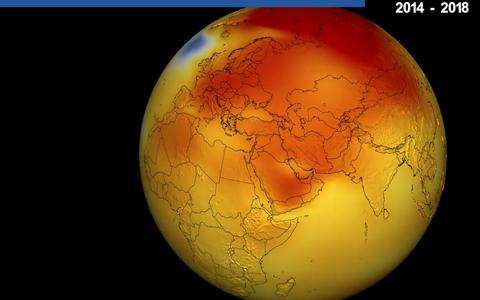 NASA andmestiku kohaselt ületas 2018. aasta keskmine õhutemperatuur 1951–1980 aasta keskmist 0,83°C võrra.