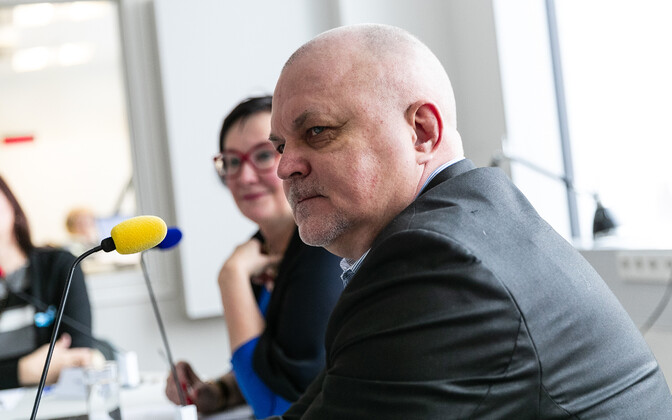 Urmas Reitelmann at a pre-election panel discussion on ERR's Vikerraadio.