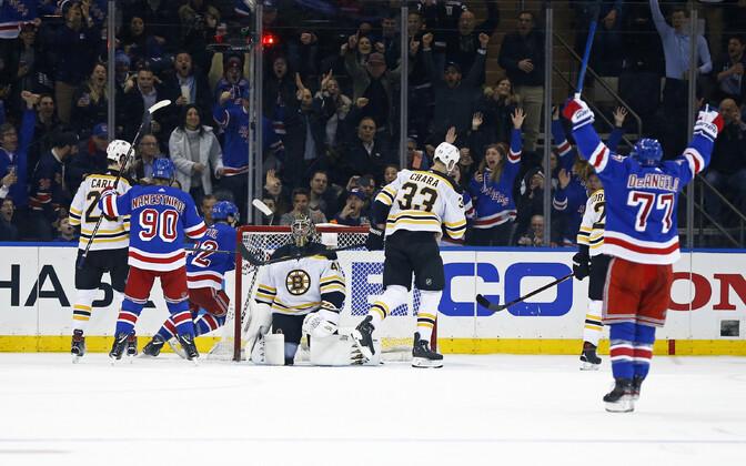 New York Rangers alistas Boston Bruinsi seitsmendast karistusviskest