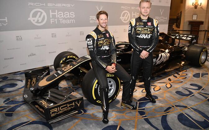 Haasi sõitjad Romain Grosjean ja Kevin Magnussen