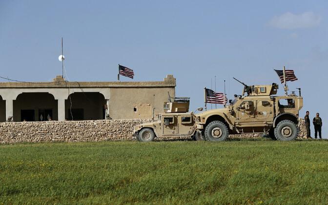 USA sõdurid Süürias Manbijis 2018. aasta märtsis.