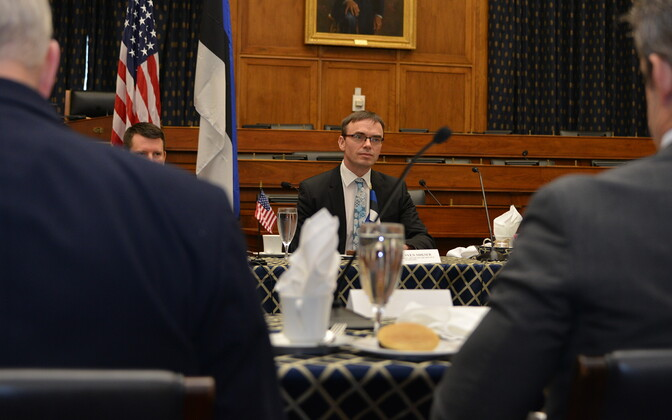 Minister of Foreign Affairs Sven Mikser (SDE) meeting with members of Congress in Washington on Thursday. 7 February 2019.