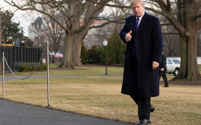 President Trump tervisekontrollist naasmas.