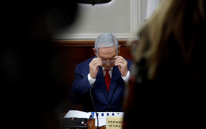 Iisraeli peaminister Benjamin Netanyahu iganädalasel kabinetiistungil.