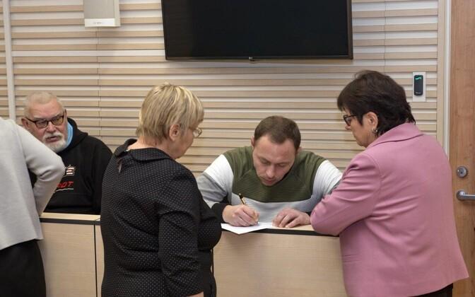 Заседание суда по делу Дениса Метсаваса и Петра Волина.