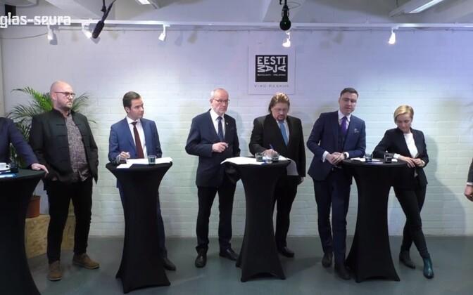 Erakondade valimisdebatt Soomes.