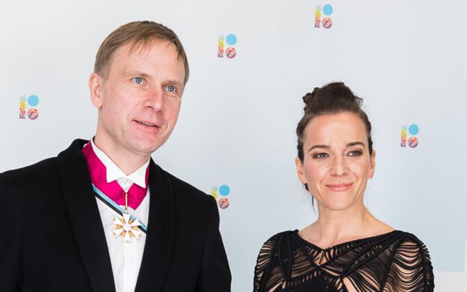Mary Jordan with Eerik-Niiles Kross.