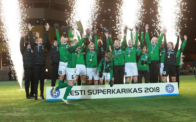 Mullu võitis naiste Superkarika FC Flora naiskond.