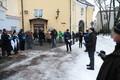 Stenbocki majas koalitioonikõneluste pidajaid tervitasid korduvalt protestijad.