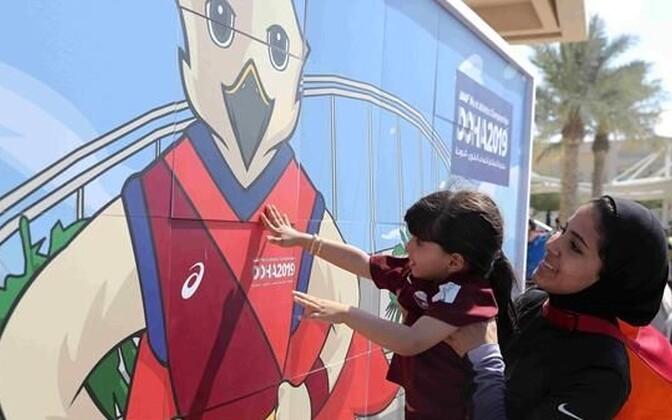 Doha kergejõustiku MM-i maskotiks on pistrik Falah