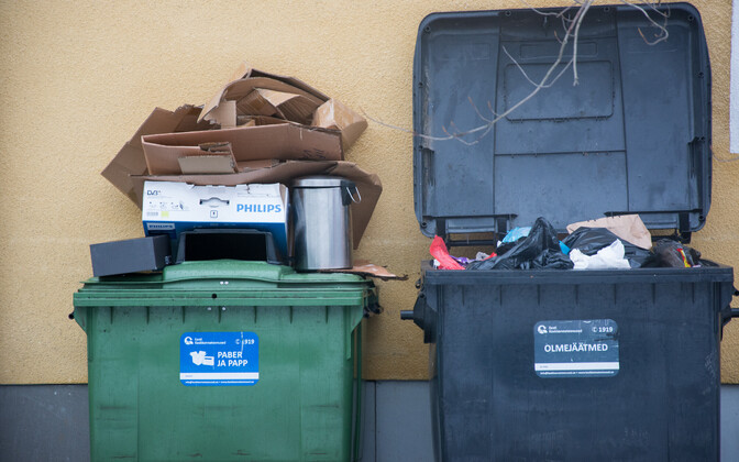 Recycling bins, looking distinctly misused (picture is illustrative).