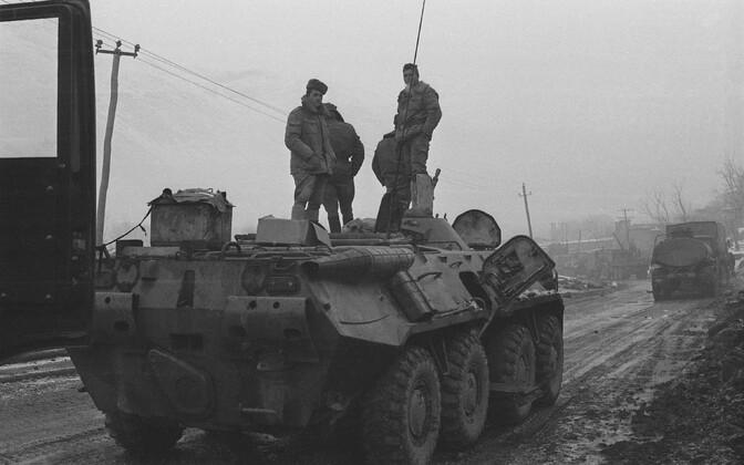 Last Soviet column moving from Kabul to the border of Uzbekistan, February 1989