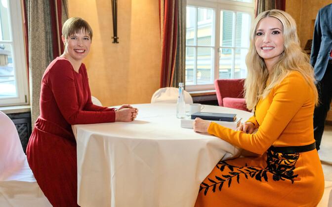 Kersti Kaljulaid ja Ivanka Trump Münchenis.