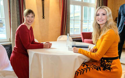 President Kersti Kaljulaid meeting with US presidential advisor Ivanka Trump.