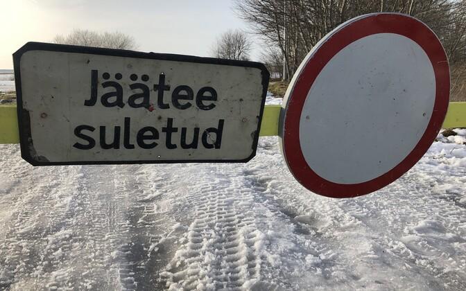 Ледовую трассу Хаапсалу-Ноароотси открыли всего лишь на несколько часов.