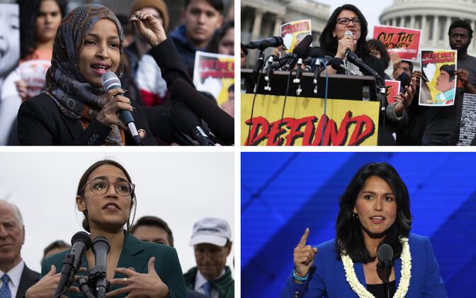 Ilhan Omar (SIPA), Rashida Tlaib (AFP), Alexandria Ocasio-Cortez (SIPA), Tulsi Gabbard (Reuters).