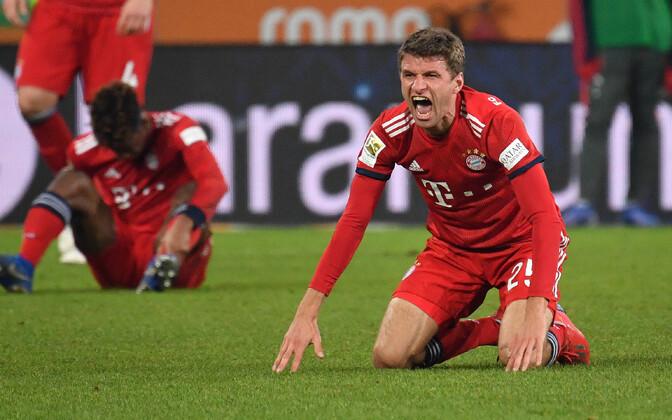 Avaminutil omavärava löönud Bayern teenis raske võidu