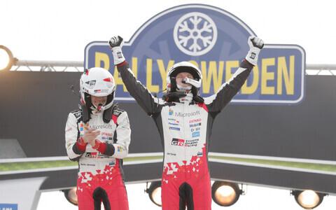 Ott Tänak ja Martin Järveoja võitsid Rootsi ralli.