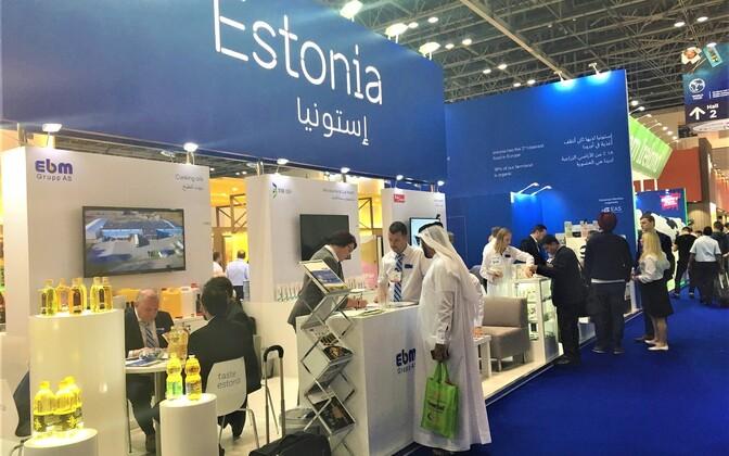 Общие стенды Эстонии на выставках в ОАЭ.