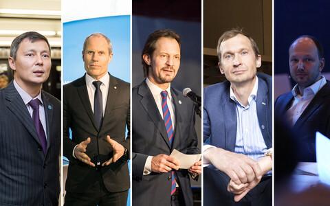 EOK sporditeemalisel valimisdebatil osalejad