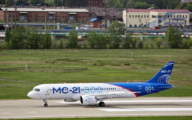 Irkut MC-21 esimesel testlennul 2017. aasta mais.