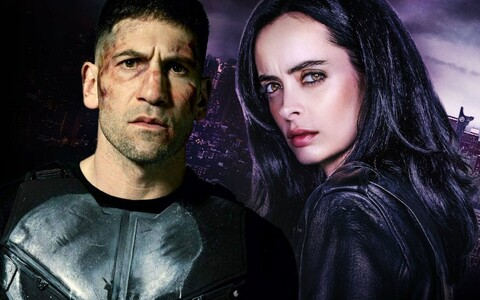 "Sarjade ""The Punisher"" (vasakul) ja ""Jessica Jones"" pressifotod."