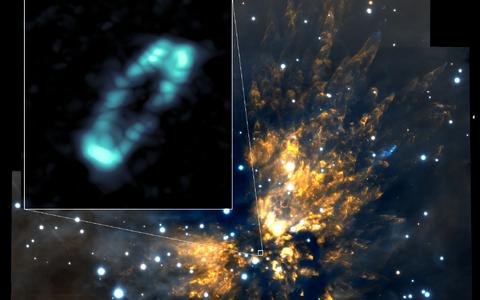 Nooruke täht läbi teleskoobisilma vaadatuna.