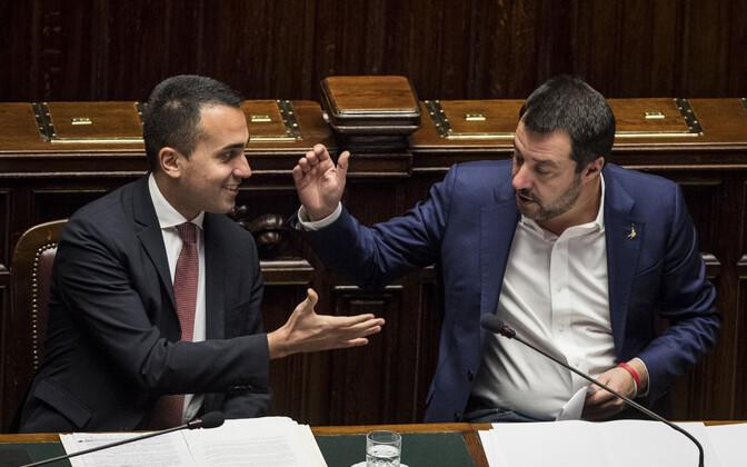 Luigi Di Maio ja Matteo Salvini Itaalia parlamendis.