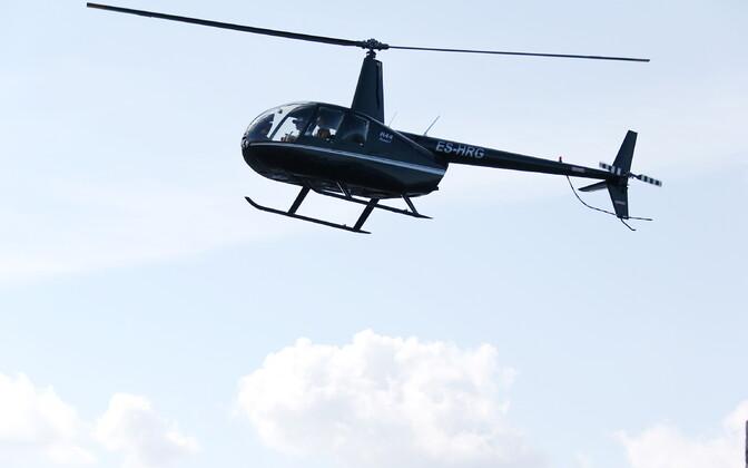 Вертолет Олега Сынаялга.
