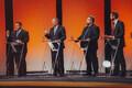 Свен Сестер (Отечество),  Сийм Каллас (Партия реформ), Олев-Андрес Тинн (Зеленые Эстонии) и Евгений Осиновский (Социал-демократическая партия).