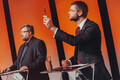 Олев-Андрес Тинн (Зеленые Эстонии) и Евгений Осиновский (Социал-демократическая партия).