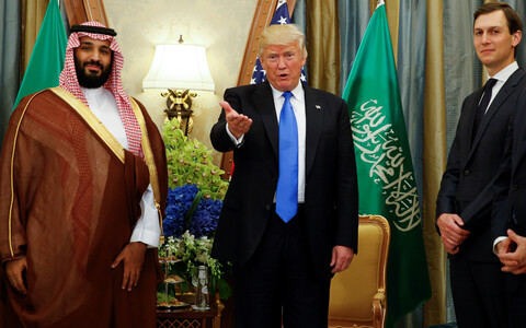 Saudi kroonprints, president Trump ja Jared Kushner 2017. aasta mais.